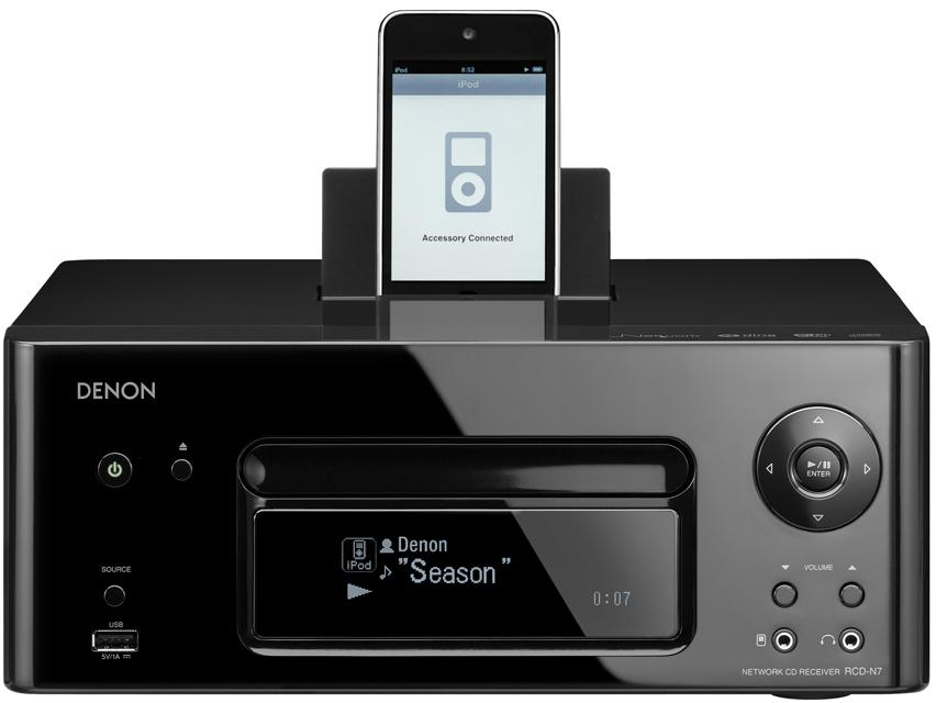 Denon AV Receivers 2.0 Channel Network Receiver - Item Number: RCD-N7BK