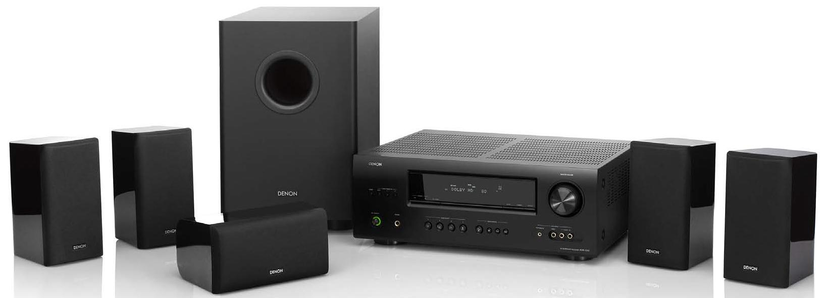 Denon Home Theater Systems 5.1 Channel Home Theater System - Item Number: DHT-1312XP