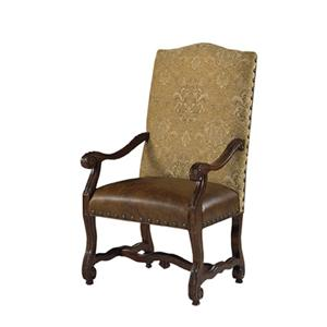Luxemberg Overscaled Carved Arm Chairs