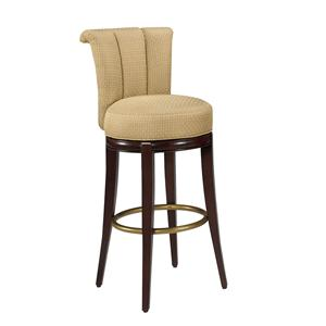 Designmaster Dining Stools Seneca Channel Back Swivel Stool