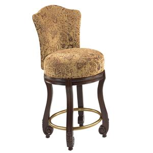 Designmaster Dining Stools Calais Carved Swivel Dining Stool