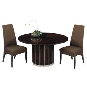 Designmaster Tables Milan Art Deco with Mahogany Veneer Top