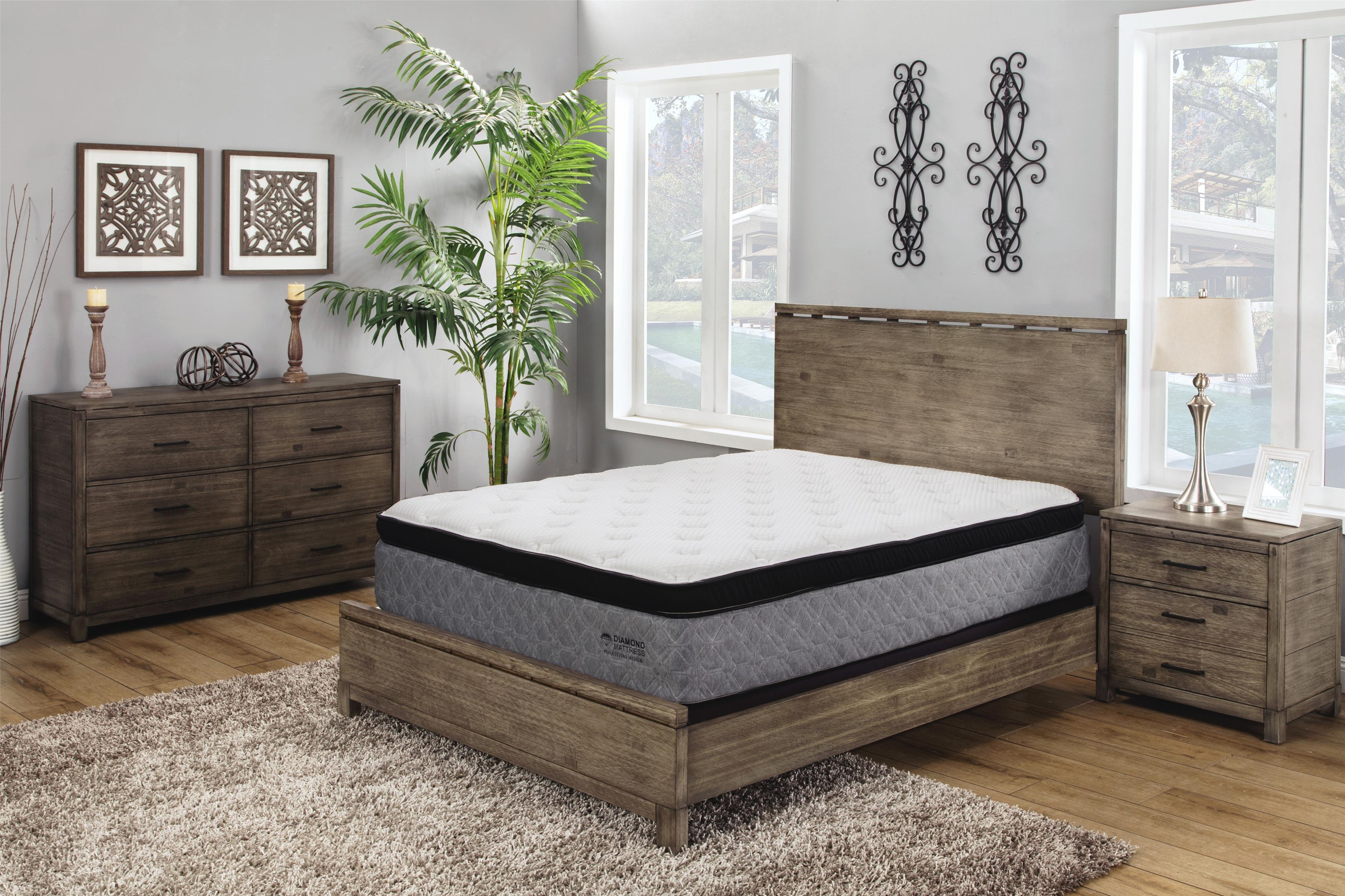 Midtown Cal King Medium Hybrid Cooling Mattress by Diamond Mattress at Beck's Furniture