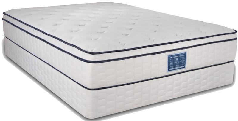 Diamond Mattress Spinal Comfort Surfside Cal King Euro Top Mattress Set - Item Number: SCSSET-1070+F096-5071
