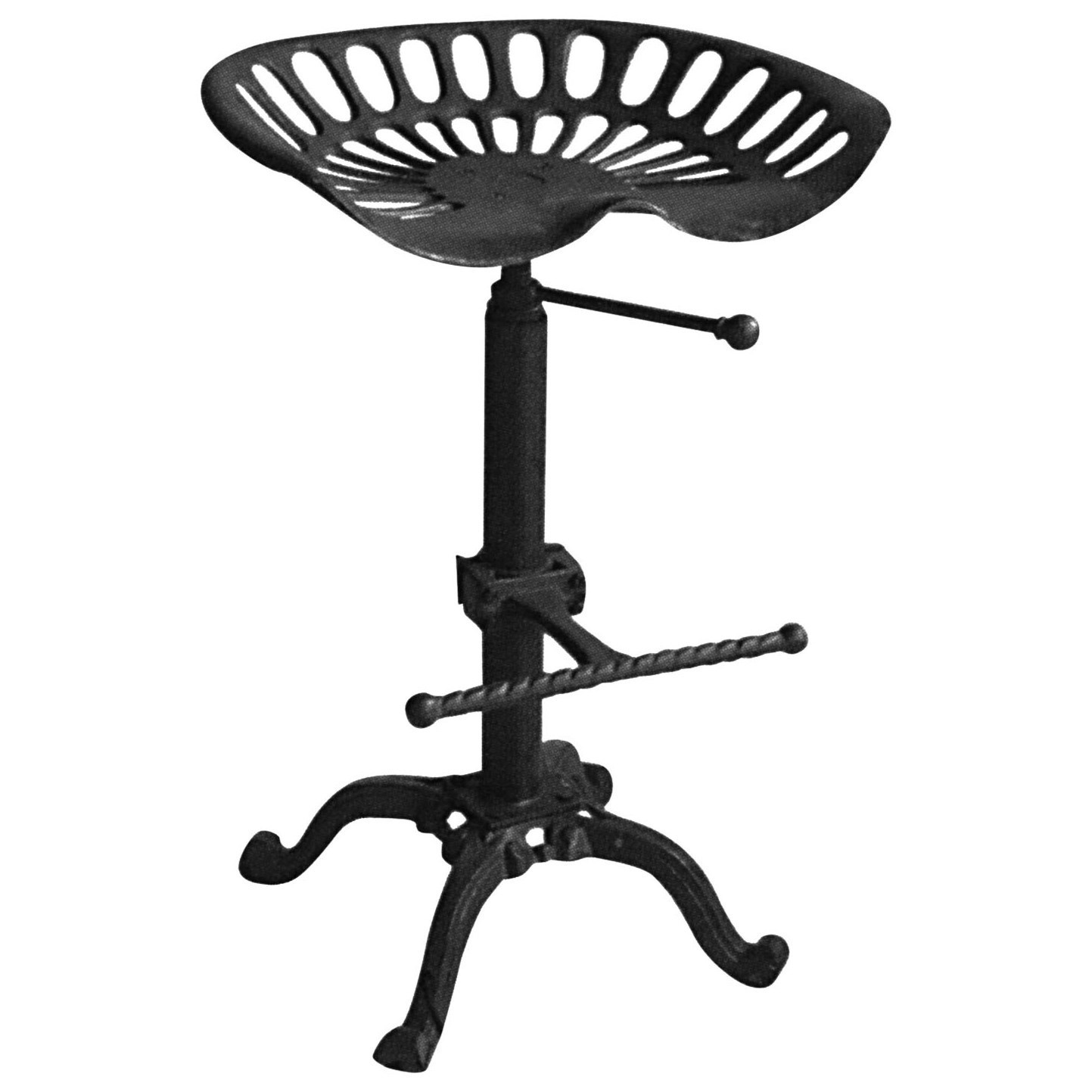 Diamond Sofa Abbott Black Adjustable Height Dining Stool - Item Number: ABBOTDCBL