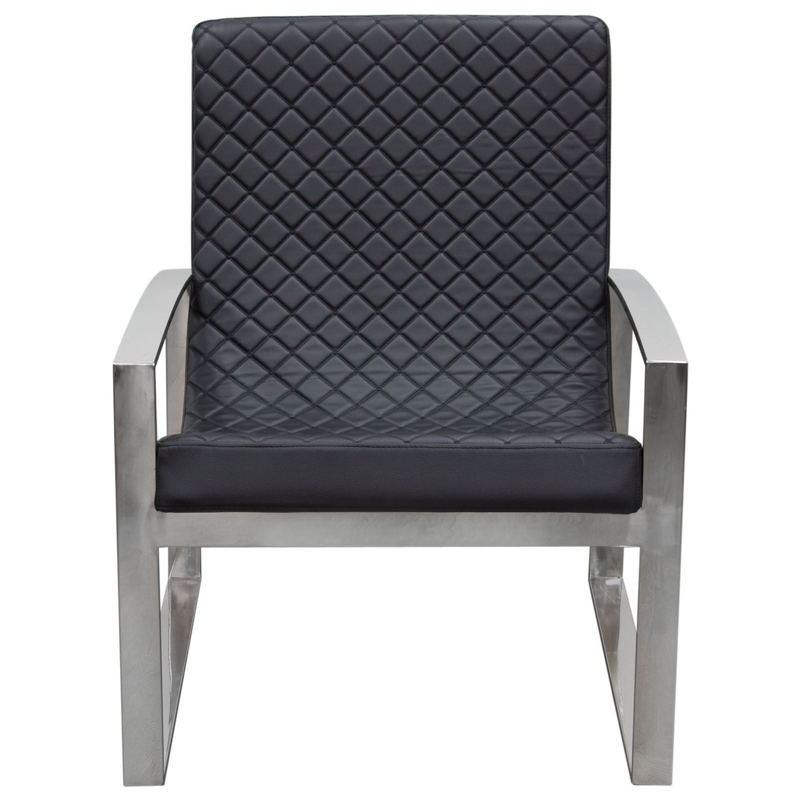 Diamond Sofa Accent Chairs Accent Chair with Diamond Tufted Quilt - Item Number: ARISTOCRAT