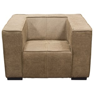 Diamond Sofa Accent Chairs Chair in Bomber Brown Fabric