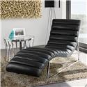 Diamond Sofa Bardot Black Chaise Lounge - Item Number: BARDOTCABL