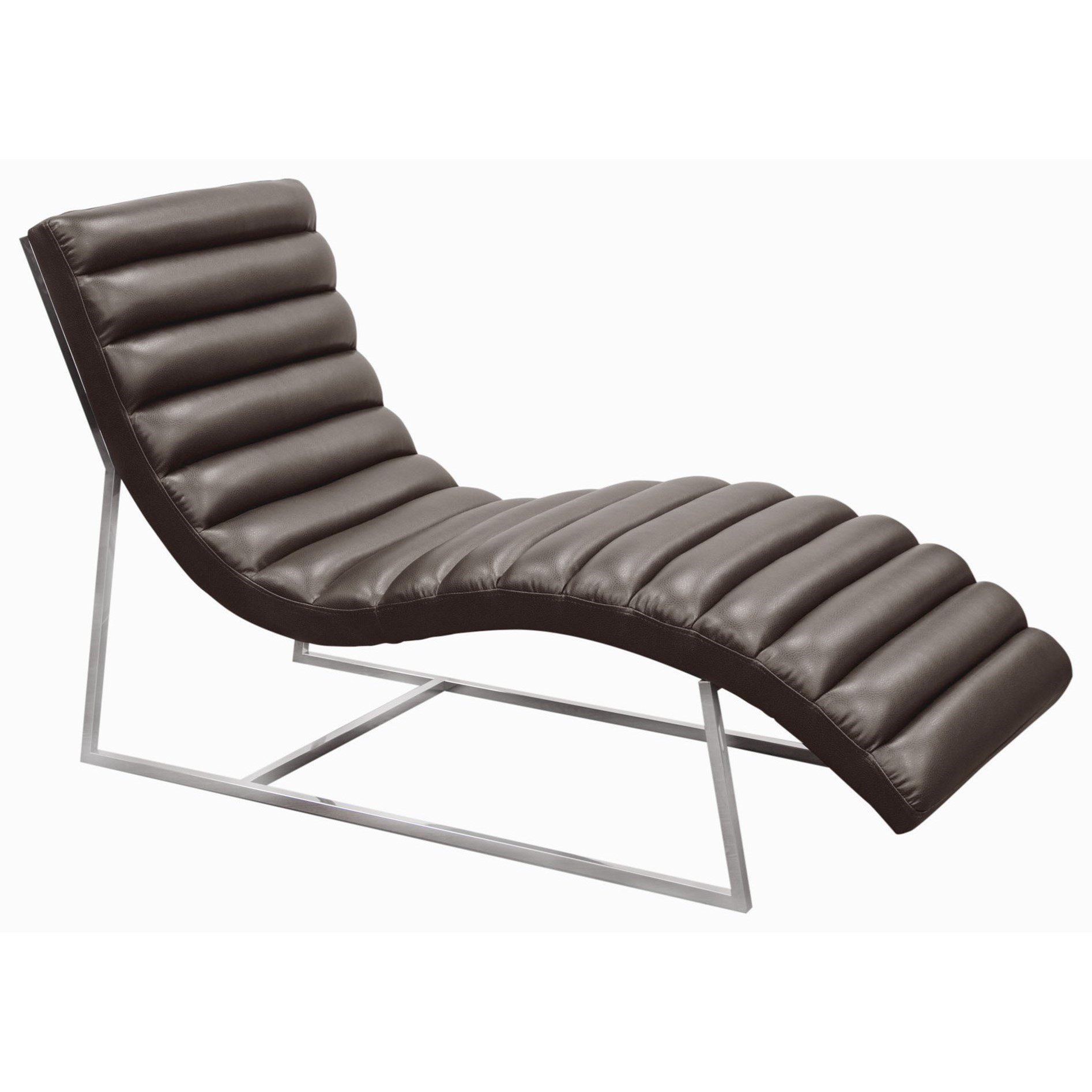 Diamond Sofa Bardot Grey Chaise Lounge - Item Number: BARDOTCAEG