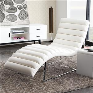 Diamond Sofa Bardot WH Chaise Lounge