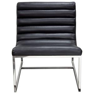 Diamond Sofa Bardot Black Lounge Chair