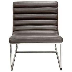 Diamond Sofa Bardot Grey Lounge Chair