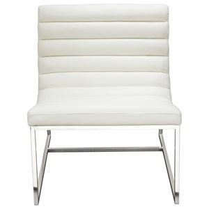 Diamond Sofa Bardot White Lounge Chair