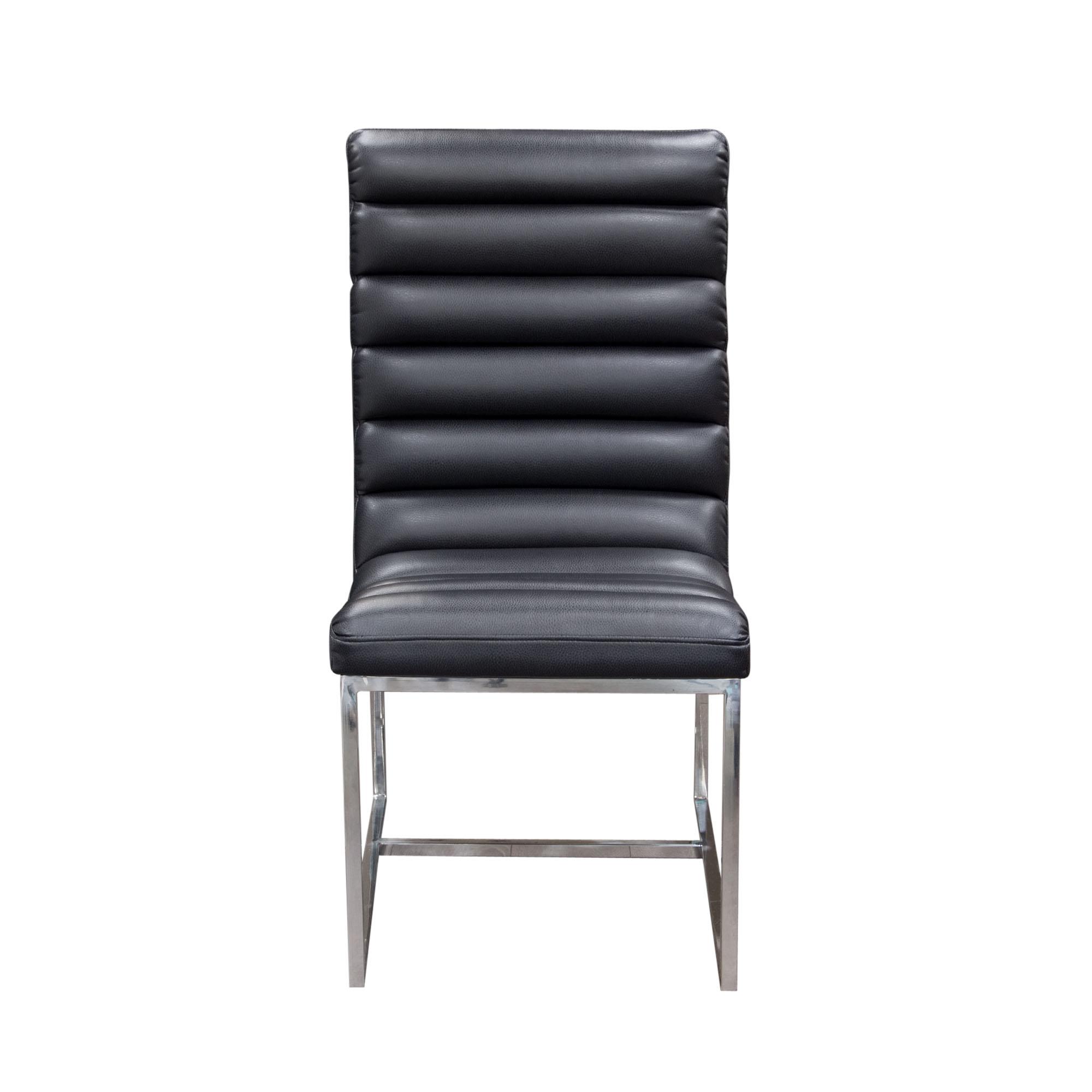 Diamond Sofa Bardot Black Set of Two Dining Side Chairs - Item Number: BARDOTDCBL2