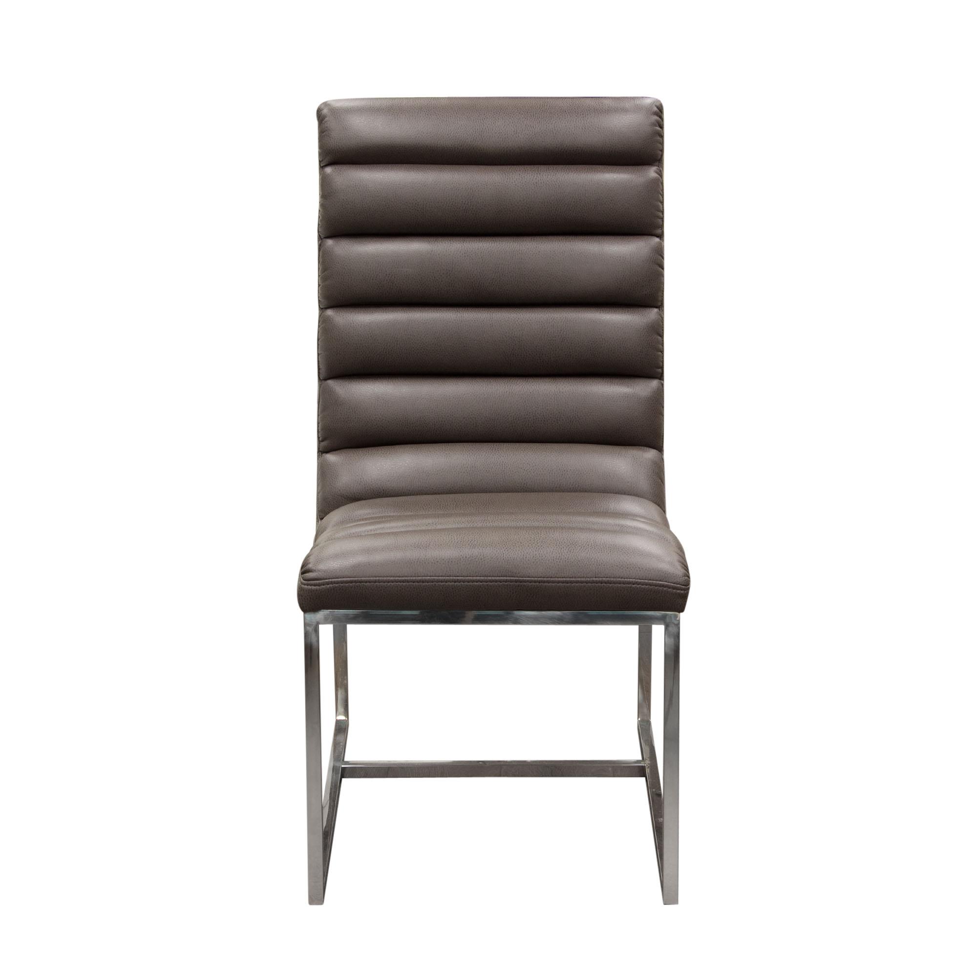 Diamond Sofa Bardot Grey Set of Two Dining Side Chairs - Item Number: BARDOTDCEG2