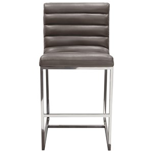 Diamond Sofa Bardot Grey Counter Stool
