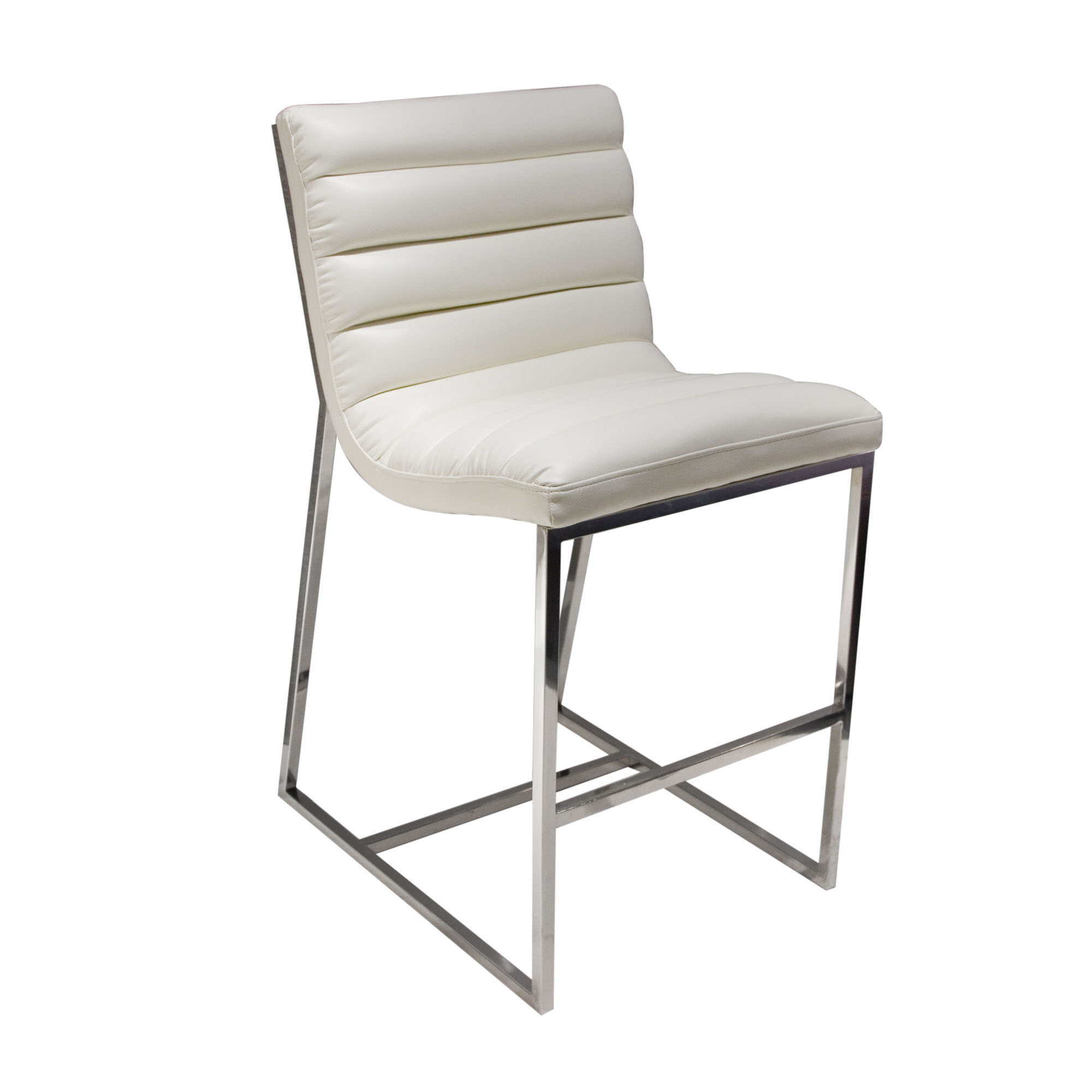 Diamond Sofa Bardot White Counter Stool - Item Number: BARDOTSTWH