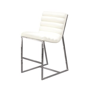 Diamond Sofa Bardot White Counter Stool