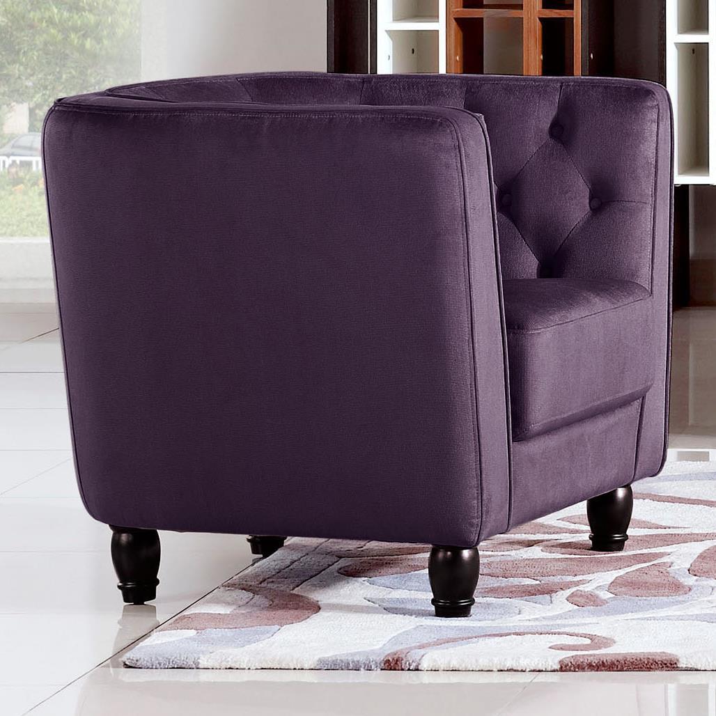 Diamond Sofa Bellini Button Tuft Fabric Chair - Item Number: BELLINICHPR