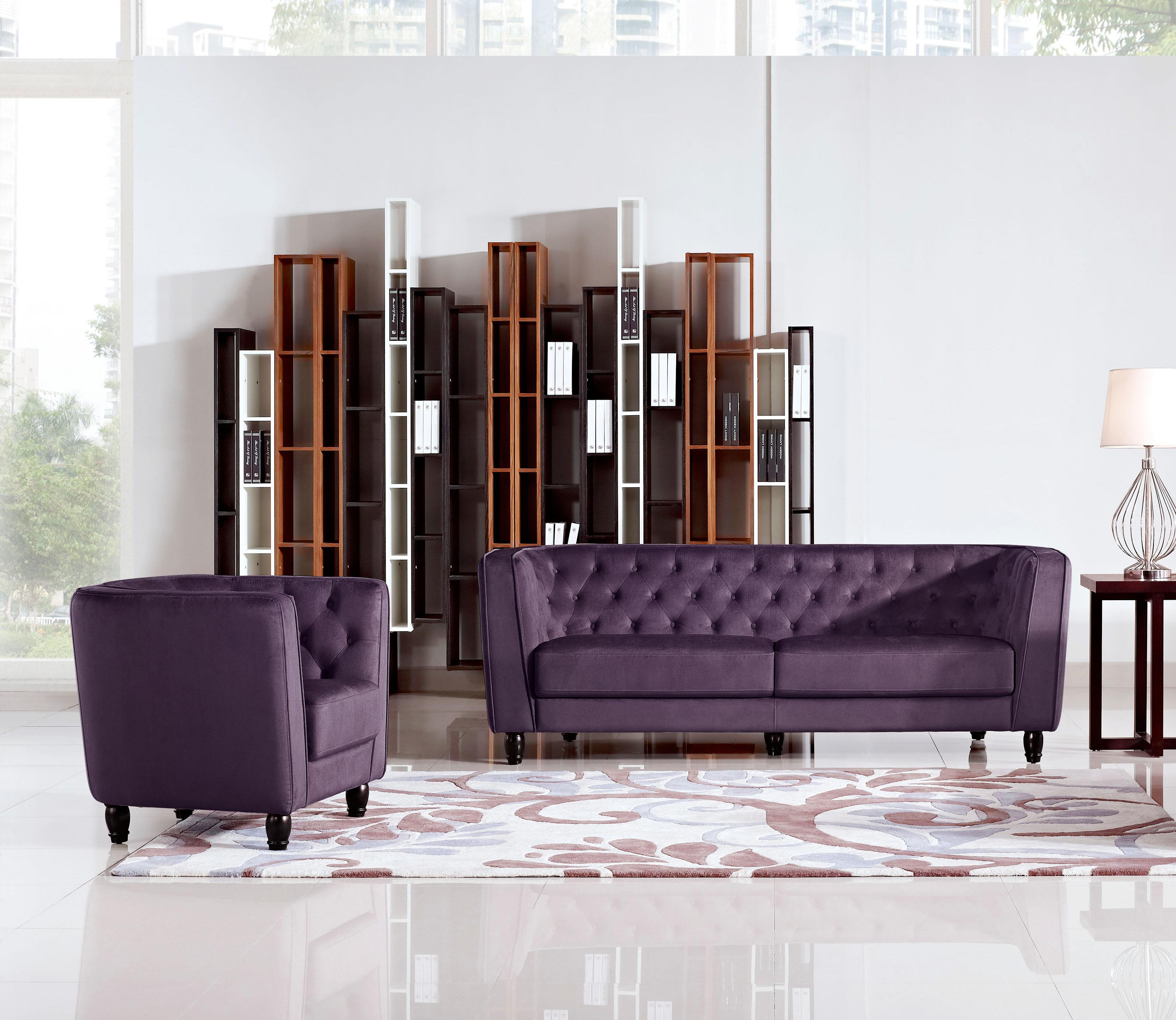 Diamond Sofa Bellini Button Tuft Fabric Sofa & Chair  - Item Number: BELLINISCPR