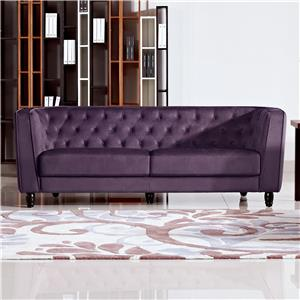 Diamond Sofa Bellini Button Tuft Fabric Sofa