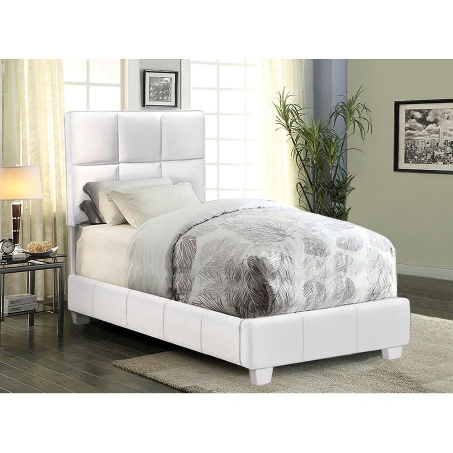 Diamond Sofa Biscuit Twin Bed - Item Number: BISCUITWHTW