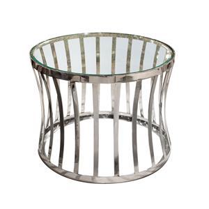 Diamond Sofa Capri Round Stainless Steel End Table