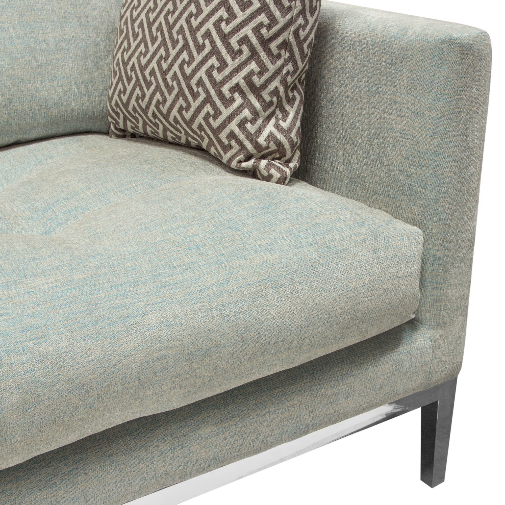 Loose Pillow Back Sofa: Del Sol DS Chateau CHATEAUSLSP Modern Loose Pillow Back