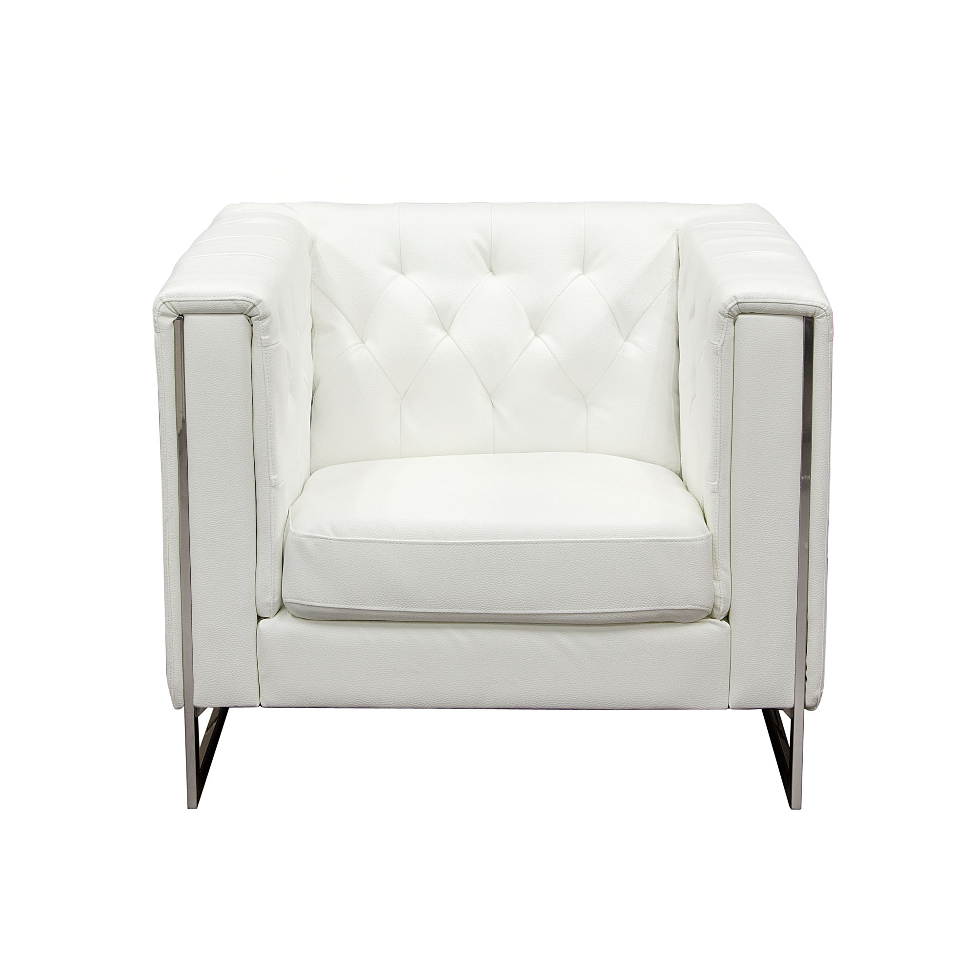 Diamond Sofa Chelsea Leatherette Chair - Item Number: CHELSEACHWH