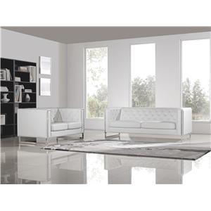 Diamond Sofa Chelsea Leatherette Sofa/Loveseat 2PC Set