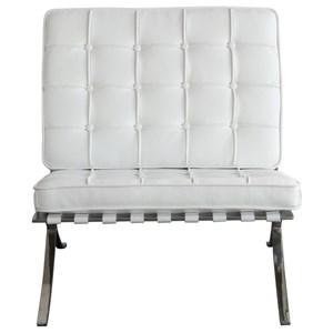 Diamond Sofa Cordoba WH Tufted Chair