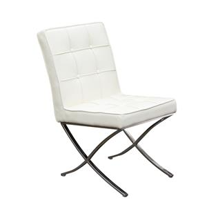 Diamond Sofa Cordoba WH Tufted Dining Chair