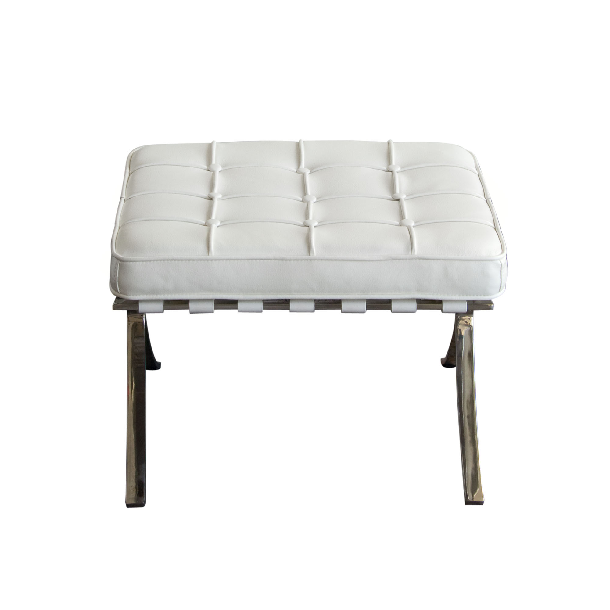 Diamond Sofa Cordoba White Ottoman - Item Number: CORDOBAOTWH