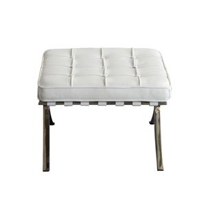 Diamond Sofa Cordoba WH Tufted Ottoman