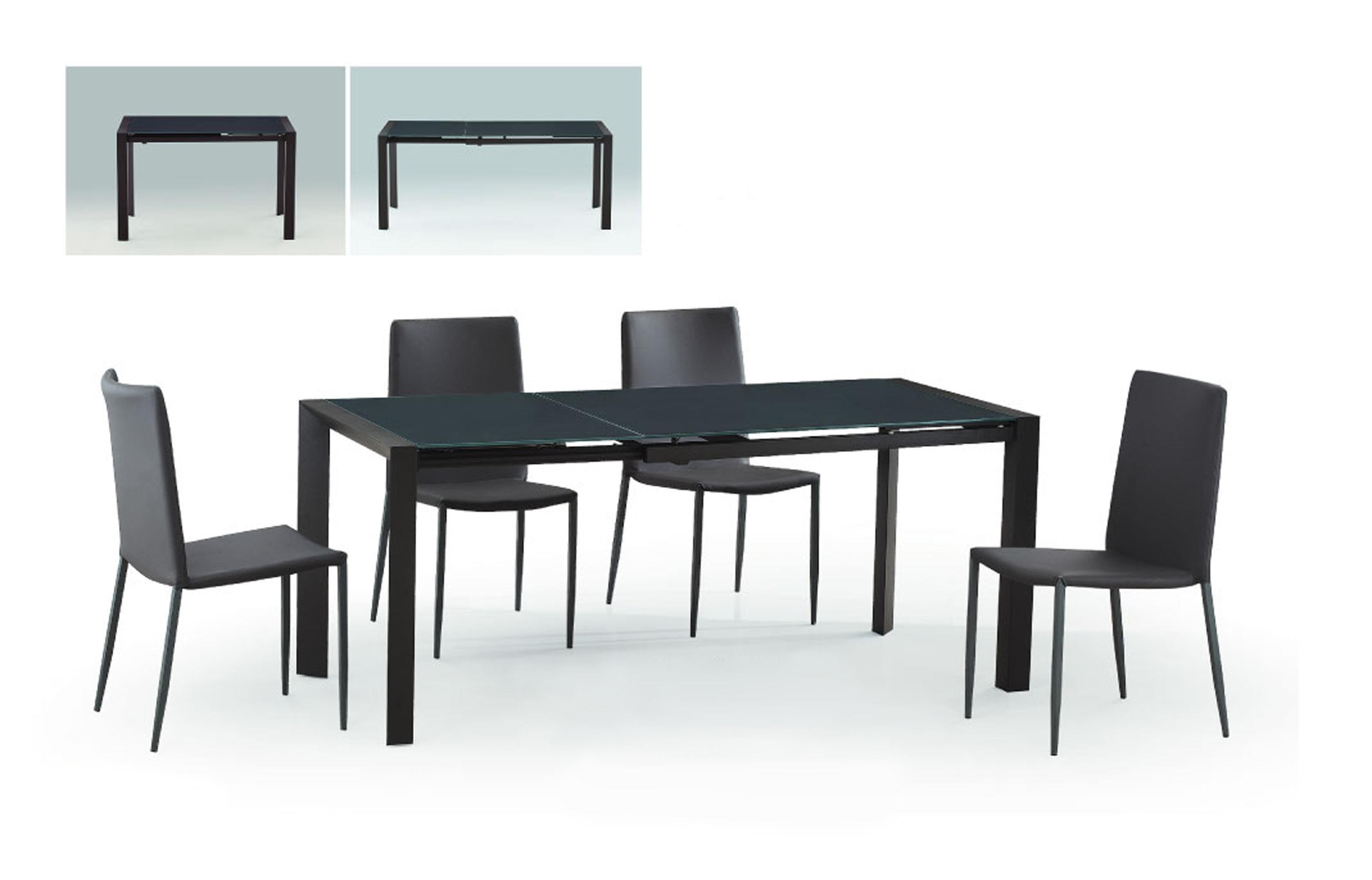 Diamond Sofa Urban Dining  Carbon Glass Top Extension Dining Table - Item Number: CARBONDT
