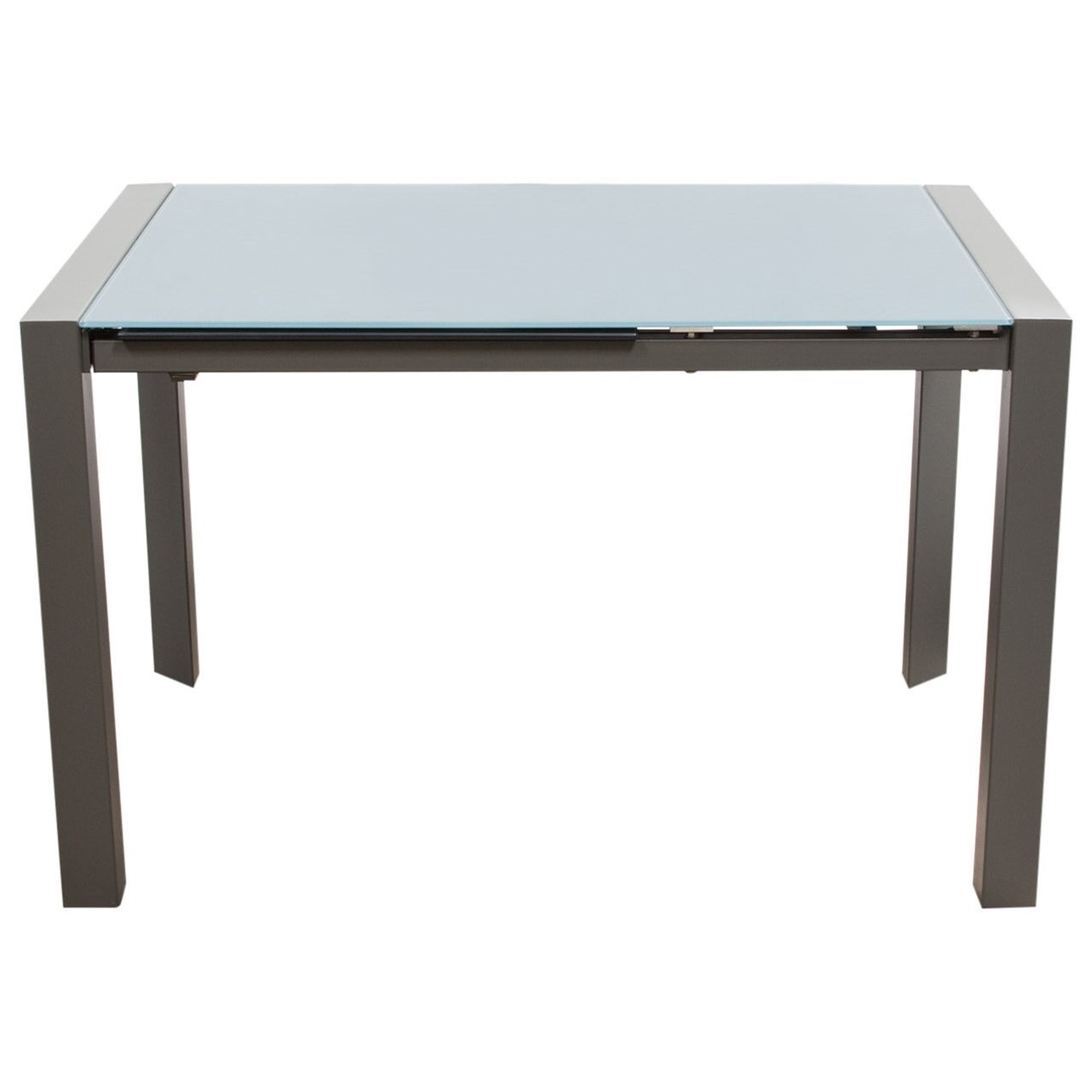 Diamond Sofa Dining Room Carbon Glass Top Extension Dining Table - Item Number: CARBONDT