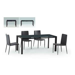 Diamond Sofa Urban Dining  Carbon Glass Top Extension Dining Table