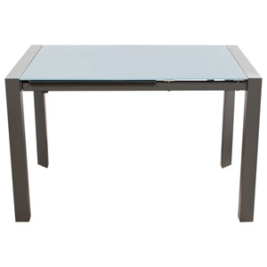 Diamond Sofa Dining Room Carbon Glass Top Extension Dining Table
