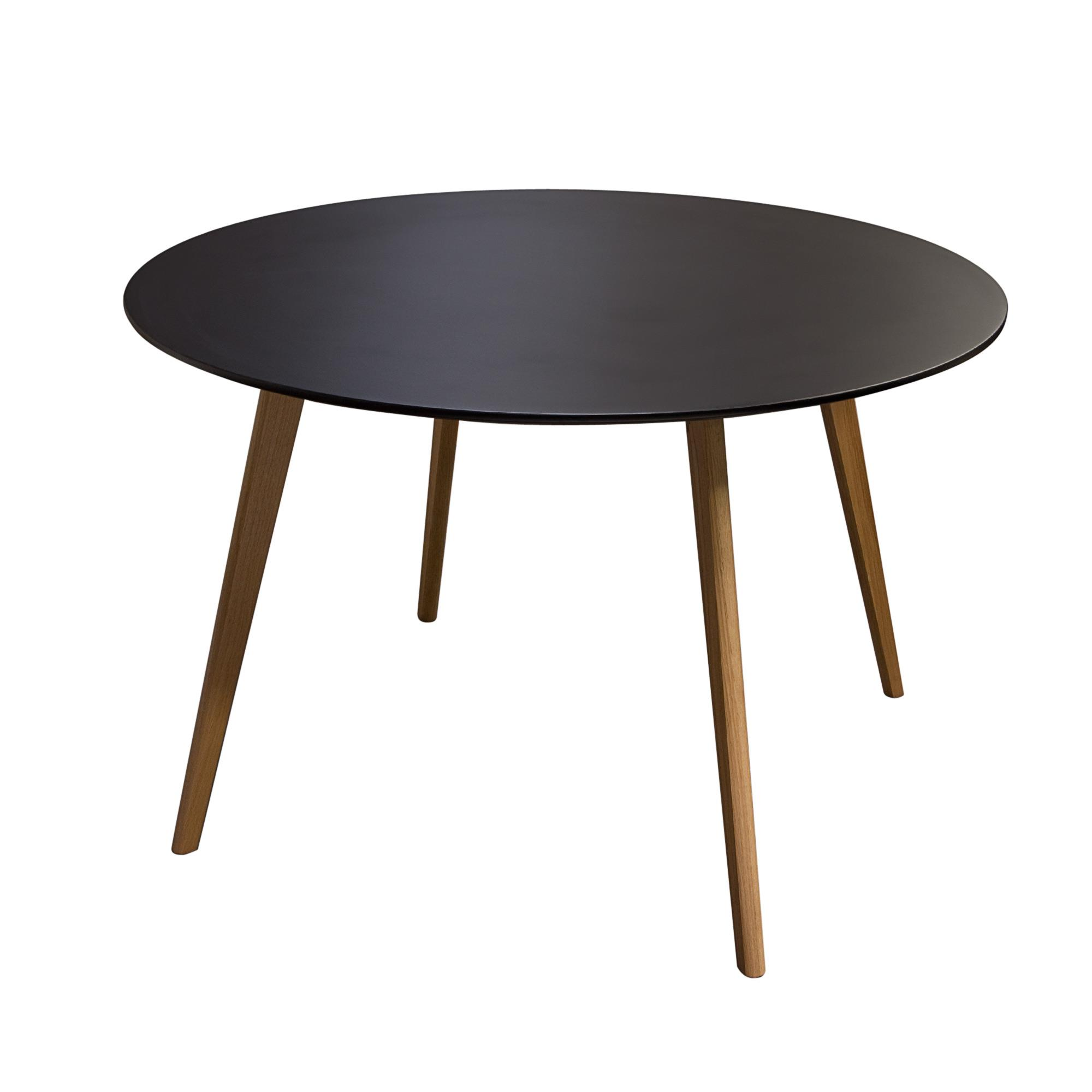 Diamond Sofa Urban Dining  Round Retro Dining Table with Solid Oak Legs - Item Number: COMETDTBL