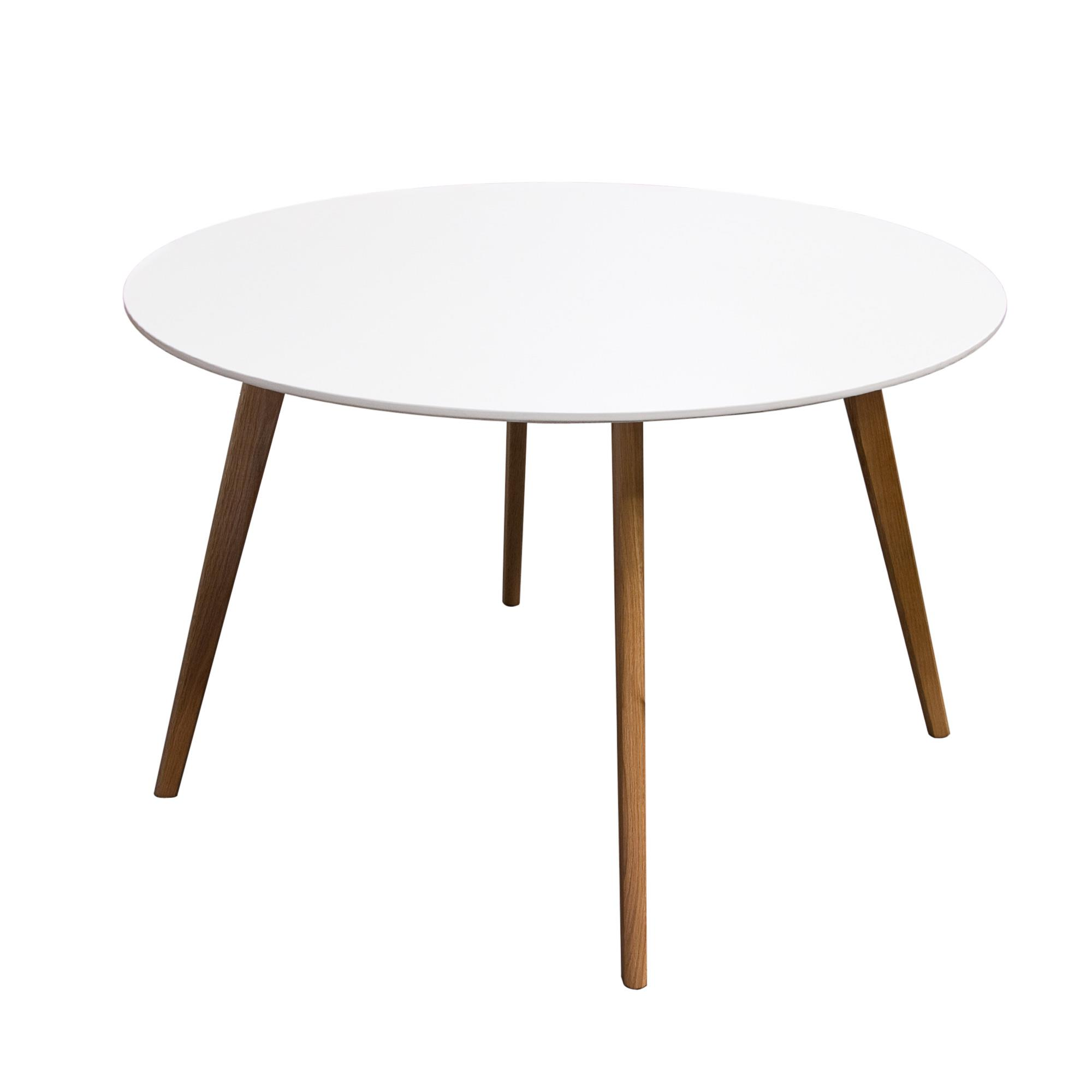 Diamond Sofa Urban Dining  Round Retro Dining Table with Solid Oak Legs - Item Number: COMETDTWH