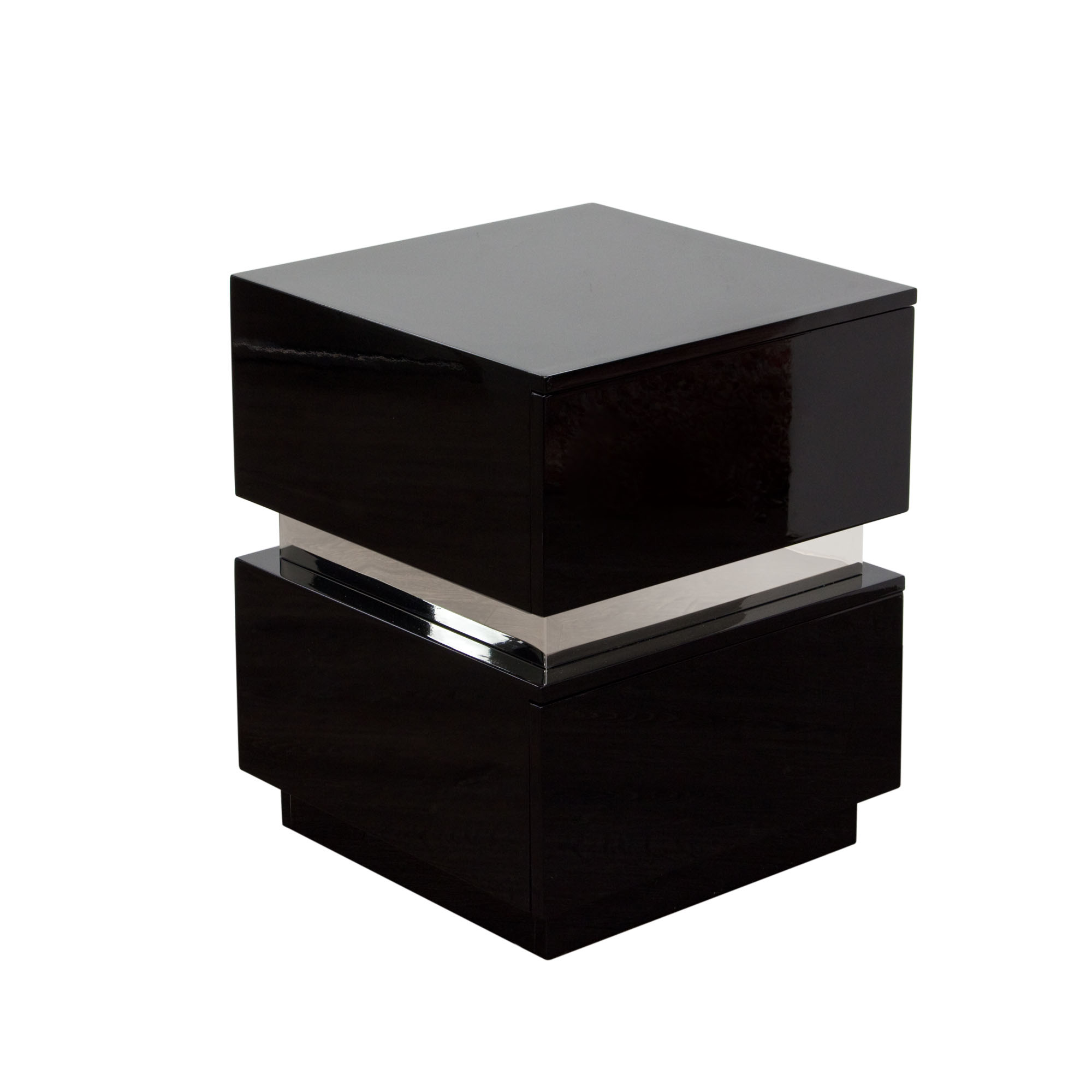 Diamond Sofa Elle 2-Drawer Accent Table in High Gloss - Item Number: ELLENSBL