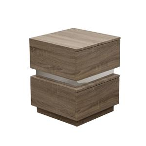 Diamond Sofa Elle 2-Drawer Accent Table in High Gloss