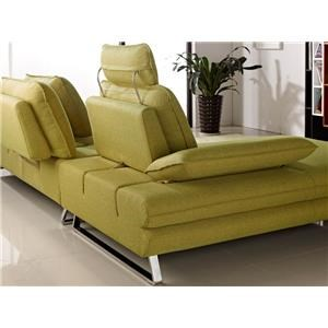 Diamond Sofa Eva Fabric Sectional with Chaise