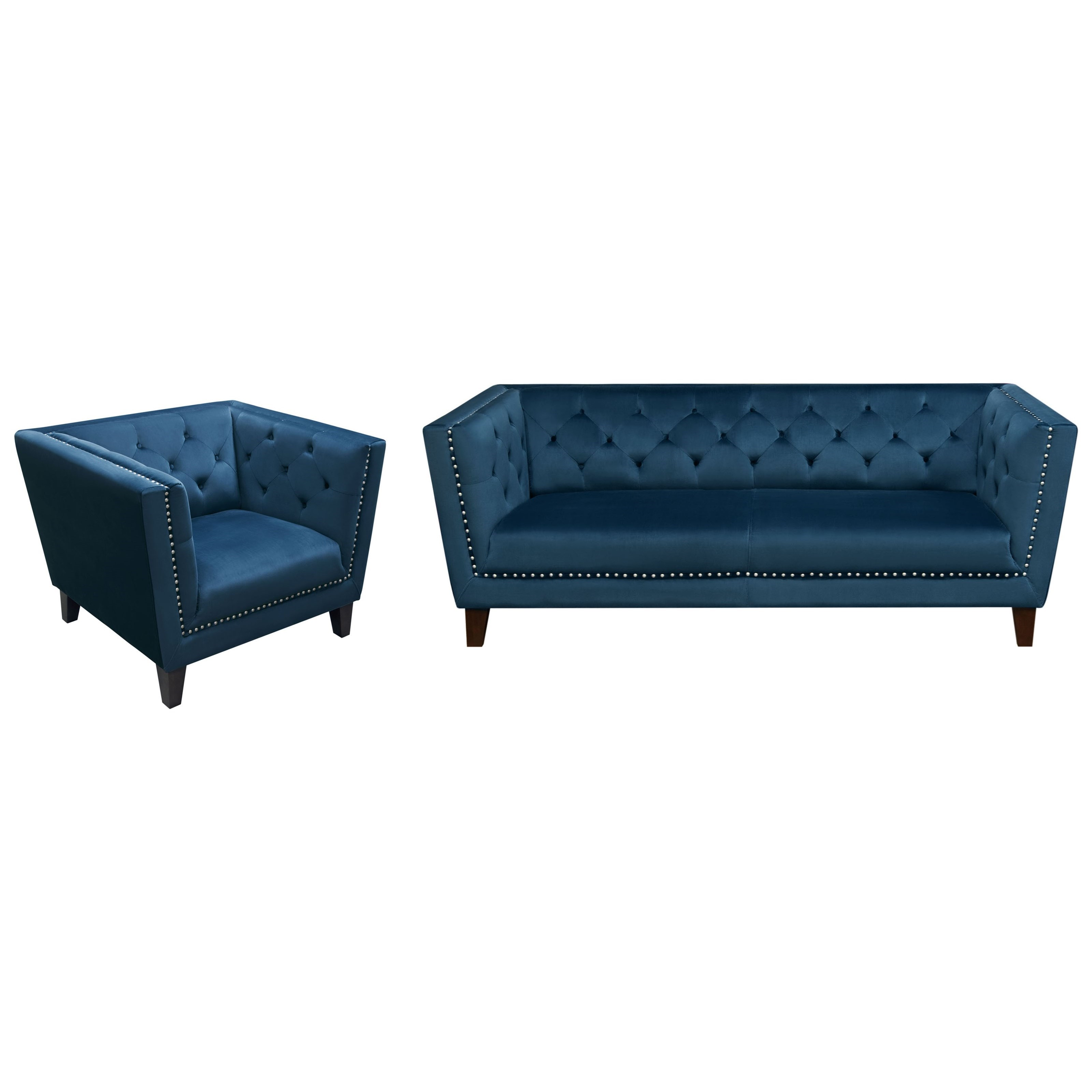 Tufted Back Sofa and Chair Set