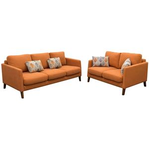 Diamond Sofa Keppel Solid Fabric Sofa & Loveseat 2PC Set