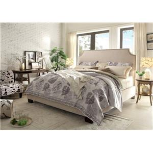 Diamond Sofa Kingston Queen Bed with Nail Head Accent