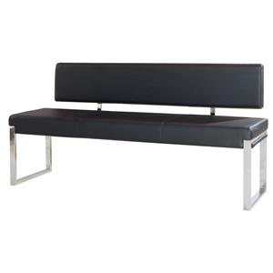Diamond Sofa Knox Black Bench with Back