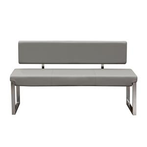 Diamond Sofa Knox Grey Bench with Back