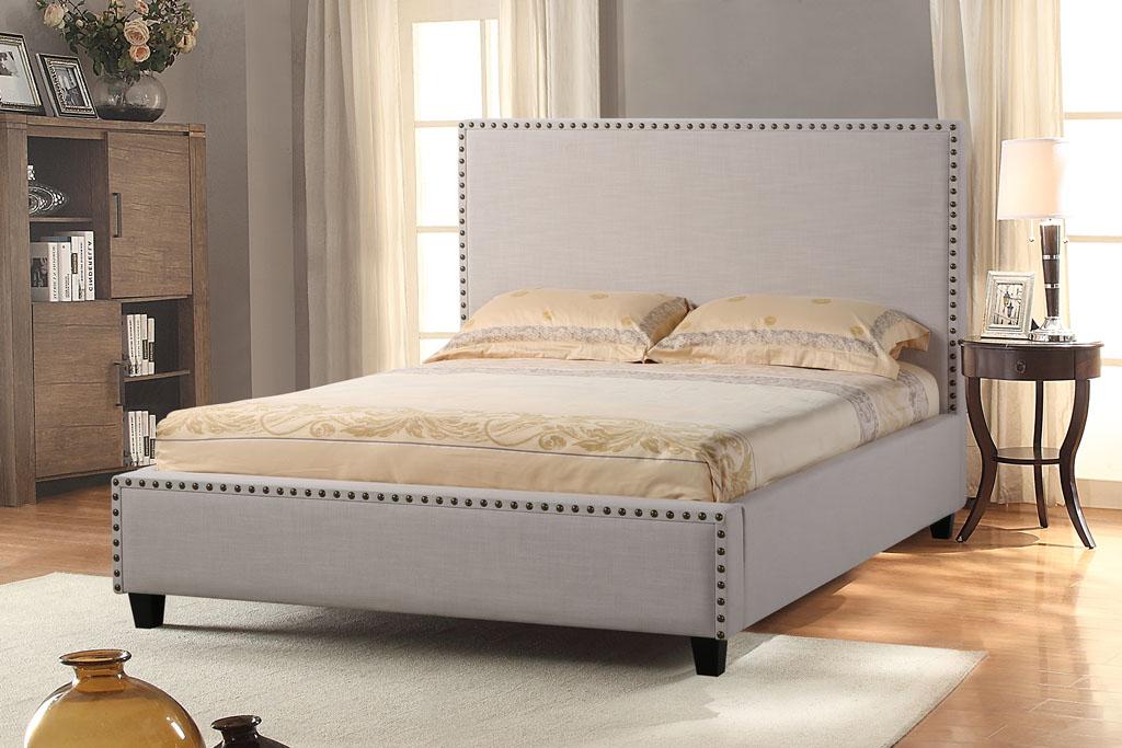 Diamond Sofa La Jolla Queen Bed with Nail Head Accent - Item Number: LAJOLLASDQUBED