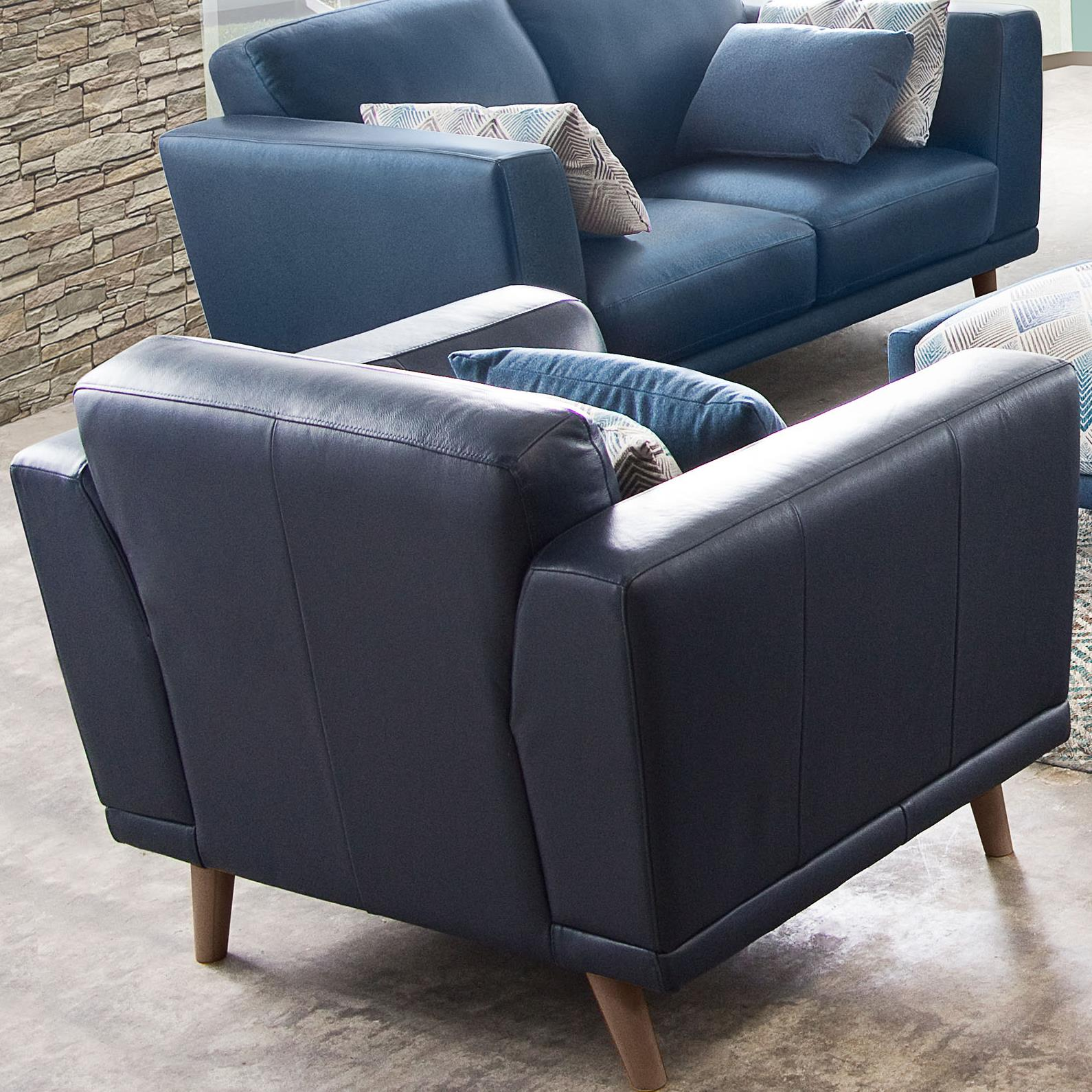 Diamond Sofa Magnetic Leatherette Accent Chair - Item Number: MAGNETICCHBUPU